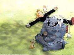 Edward and Alphonse Elric - Fullmetal Alchemist Full Metal Alchemist, Fullmetal Alchemist Brotherhood, Fullmetal Alchemist Edward, Me Anime, Anime Manga, Anime Art, Edward Elric, Otaku, Elric Brothers