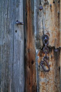 Chain and Lock by Shane Egan - An old chain lock on a fence. Click on the image to enlarge.