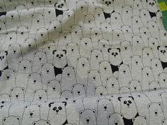 Jersey - Jersey Panda Jersey Bären grau schwarz - ein Designerstück von Valentina-Stoffe bei DaWanda