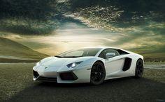 White Lamborghini Aventado