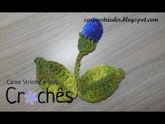 Folha e Botão de flor em crochê para aplicação por Carine Strieder - YouTube
