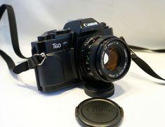 Canon T60 1990 De Canon T60 was de laatste handmatige focus 35-mm spiegelreflexcamera van Canon.