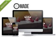 Made - multipurpose Bootstrap theme by bootstrapbrothers on @creativemarket