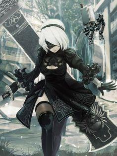 Amazing Nier Automata 2b Fan Art! #nierautomata #cosplayclass