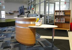 1000 images about library customer service desks on for Furniture 7 customer service