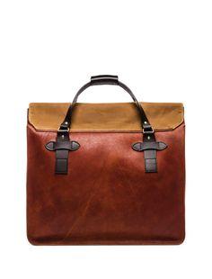 Filson Large Leather Tote em Conhaque | REVOLVE