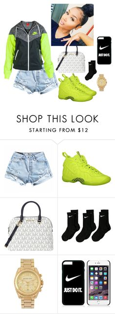 """loud much"" by onedirectionfangirl94 on Polyvore featuring NIKE and Michael Kors"