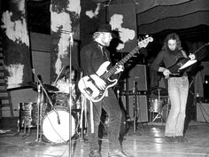 """""""Dusty Hill, Frank Beard, and Billy Gibbons (ZZ Top) playing the Senior Prom in May, 1970 at Little Cypress-Mauriceville High School in Orange, Texas.Apparently sometime between signing the contract and the actual prom itself, the band broke-out big. They tried to get out of the contract, but the school couldn't find a replacement on such short notice so ZZ Top still performed…people were climbing through the windows, crashing the prom, just to hear the band play. This was all at a really…"""