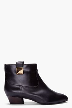 Marc Jacobs Black Stud Ankle Boots for Women | SSENSE