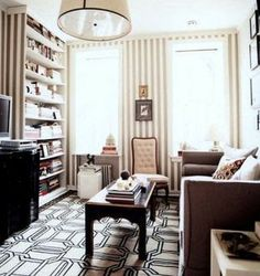I like the geometric pattern of this rug