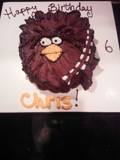 Angry birds star wars cake for my six year old.  :)