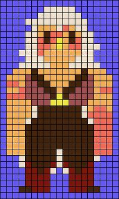 Jasper Steven Universe Perler Bead Pattern