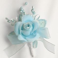 Corsages And Boutonnieres | Silk Rose and Pearl Corsages or Boutonniere - Corsage and Boutonniere ...