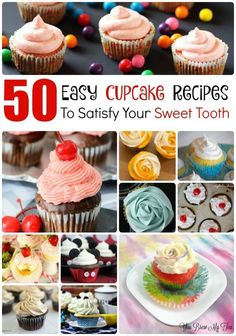 Check out our top 50 Easy Cupcake Recipes! This list is chock full of amazing treats that everyone will love to enjoy!