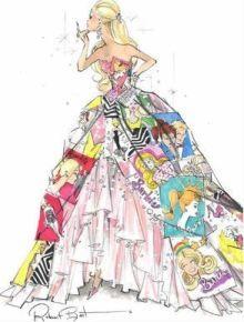 ゛バービーカレンダー\u201dのファッションデザイン画にキュン♡