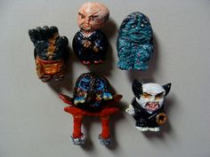 YoukaiJapanese MonstersMagnet Set D by YokaiJohn on Etsy