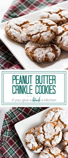 Crisp peanut butter crinkle cookies melt in your mouth. The crisp texture gives way to buttery peanut flavored cookies that are coated in sugar.