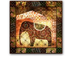 Grunge Elephant. Africa. by Futurel on @creativemarket