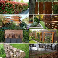 Den Sichtschutzzaun verschönern oder neu gestalten - http://freshideen.com/dekoration/sichtschutzzaun.html
