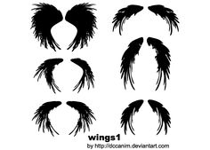 Free Wings Silhouettes Vector Image Vector Free Download, Free Vector Art, Vector Graphics, Free Vector Images, Silhouette Images, Silhouette Vector, Feather Clip Art, Bird Free, Tattoo Graphic