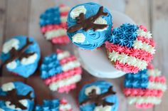 air force cupcakes Archives - Handmade Is Better Gluten Free Cupcake Recipe, Cupcake Recipes, Lovin Oven, Patriotic Cupcakes, Family Cake, Blue Cupcakes, Retirement Cakes, Cakes For Women, Yum Food