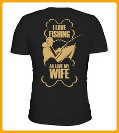 I Love Fishing Gold - Shirts für reisende (*Partner-Link)