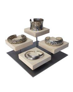 Riser affichage bracelet, présentoir de bague, présentoir à bijoux, artisanat d