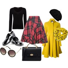"""""""Tartan Outfit"""" by antonella-taurino on Polyvore"""