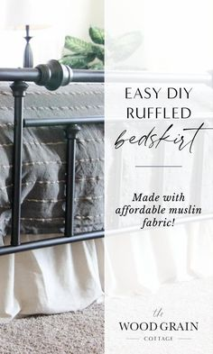 Sew a ruffled bedskirt with this super easy step-by-step tutorial! This easy and affordable DIY project adds a soft, rustic touch to any bedroom #diy #sewingtutorial #bedskirt Country Farmhouse, French Country, Farmhouse Decor, Home Decor Bedroom, Diy Home Decor, Sewing Tutorials, Sewing Projects, Home Decor Inspiration, Design Inspiration