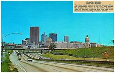 1966 postcard of downtown skyline... the year I moved to Atlanta.