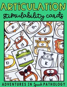 These adorable flashcards are an alternative to assessing speech sound stimulability and can easily be used as visual prompts in therapy Articulation Therapy, Articulation Activities, Speech Therapy Activities, Language Activities, Speech Pathology, Speech Language Pathology, Speech And Language, Childhood Apraxia Of Speech, English Teaching Materials