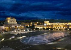 Republic Square. Armenia is a land of both old & new.