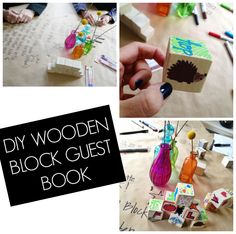 Use wooden blocks as a guest book for a baby shower! Fun and functional!