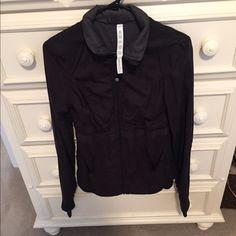Lululemon Jacket Only worn once! Cute black jacket to wear anywhere! lululemon athletica Jackets & Coats