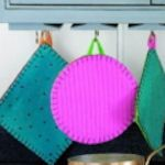 Recycle wool blankets, sweaters, etc., into potholders.