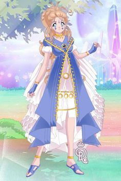 Belldandy from Oh My Goddess. Version one. Made by Shannon Stickel using doll divine's senshi maker.