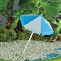 Fairy Garden Beach Umbrella - Miniature Umbrella Beach Fairy Gardens Picnics Terrarium Supplies Fairy Accessories