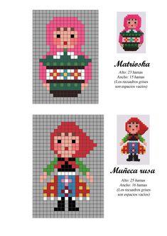 Matrioska rusa hama beads pattern