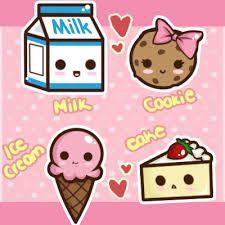 cartoon sweets deviantart kawaii faces foods tsubaki akia drawing drawings cookie chibi things open yum doodles stuff dog discover