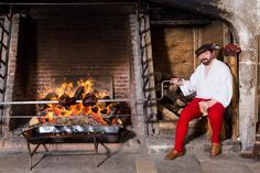 tudor kitchen history.roasting meat