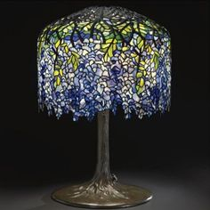 Wisteria lamp for when He desires to read a book...