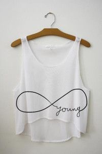 shirt young infinite crop tops