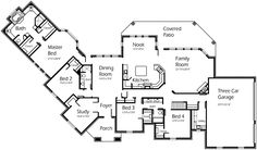 House Plans by Korel Home Designs:  Plan Number: S3359R; I like the angle of the master suite