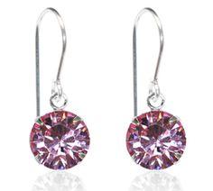 Light Pink Single Crystal Drop Earrings - $9.80