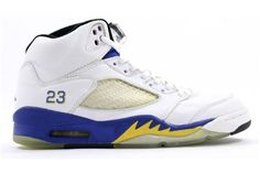 Air Jordan 5 (V) Retro High Men- White-Varsity Maize Varsity Royal were considered that is contour most artistic one section, the smooth shoes.