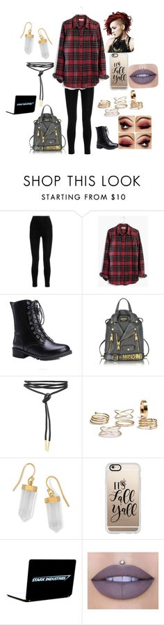 """""""Fall"""" by tumblrgirl223 ❤ liked on Polyvore featuring Balmain, Madewell, Moschino, BillyTheTree, Casetify and Jeffree Star"""