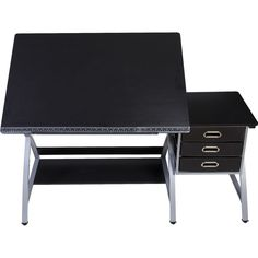 OneSpace - Craft Station Desk - Black/Silver/Gray