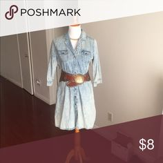 Forever 21 jean styled dress Worn a few times. Dresses Long Sleeve