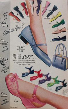 1952 matching shoes and purse (and belt, hat, gloves and jewelry) was desired.