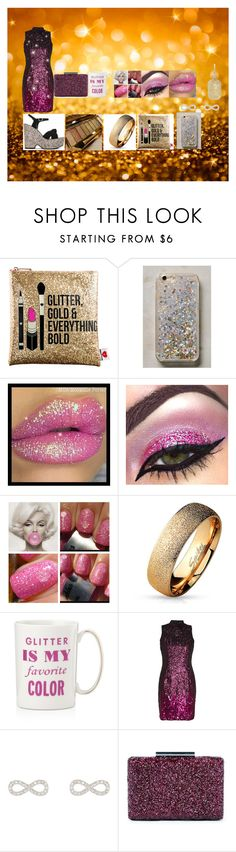 """""""Glitter"""" by zaria-costley ❤ liked on Polyvore featuring Sephora Collection, Anthropologie, West Coast Jewelry, Kate Spade, French Connection, Accessorize, Sole Society and Carolina Bucci"""